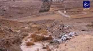 تشكل السيول في الأودية بالكرك.. فيديو