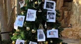 صور الشهداء على شجرة الوحدة الوطنية في ناعور