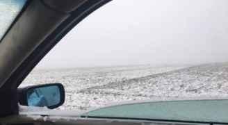 الكرك:  تساقط للثلوج بالمزار الجنوبي ..صور