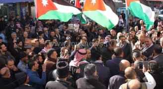 بالصور.. وقفه تضامنية مع القدس في الكرك