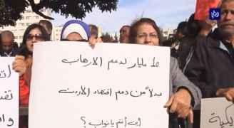 فيديو .. اعتصام أمام النواب نصرة للقدس ورفضا لقرار ترمب