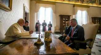 الملك للبابا: قرار ترمب حول القدس استفز مشاعر المسلمين والمسيحيين