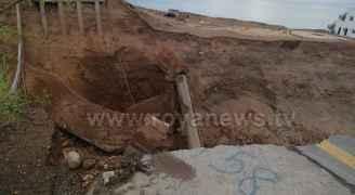 وزير الأشغال: الجسر المنهار على طريق البحر الميت مغلق منذ أشهر ولا اصابات