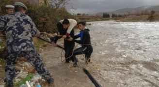 طريق الحربية الكرك مغلقة بسبب ارتفاع منسوب المياه