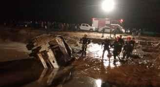 الدفاع المدني: تم تأمين الآلاف إلى مناطق آمنه جراء السيول