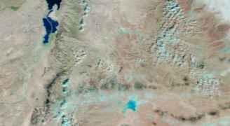 طقس العرب: الأمطار شكلت حوضا في الجفر يقارب مساحة بحيرة طبريا