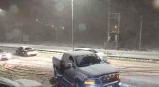تجدد تساقط الثلوج في عجلون - فيديو