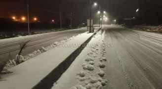 مراسل رؤيا: تساقط كثيف للثلوج في عجلون - فيديو وصور
