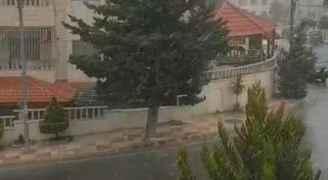 فيديو لتساقط الثلوج على ضاحية الرشيد صباح الأربعاء