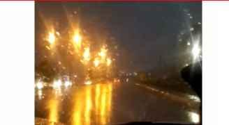 بدء تساقط للثلوج المخلوطة بالأمطار في الجبيهة - فيديو