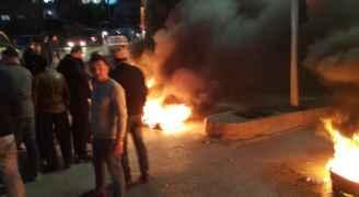 اربد : فتح طريق ايدون / اربد بعد أعمال شغب احتجاجا على توقيف اللواء الحمود- فيديو وصور