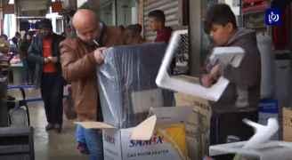 دمار وخسائر فادحة تلحق بتجار وسط البلد في عمان بسبب السيول - فيديو