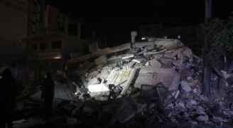 طائرات الاحتلال تقصف مكتب رئيس حركة حماس اسماعيل هنية بغزة