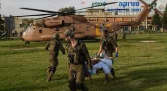 اصابة 4 مستوطنين بصاروخ فلسطيني سقط بعسقلان- فيديو