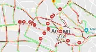 ازدحامات واغلاقات في شوارع العاصمة - خرائط