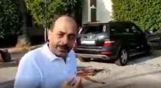 فيديو متداول لأردني تم تكسير سيارته في لبنان
