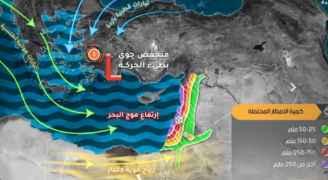 طقس العرب: الأربعاء نهاراً بداية المنخفض الجوي لكن دون أمطار إنما رياح وغبار