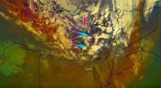تحديث عصر الأربعاء .. بدأ هطول الأمطار على اقصى شمال الأردن