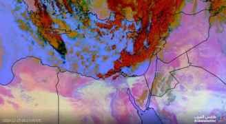 بدء هطول الأمطار في الأجزاء الشمالية من المملكة