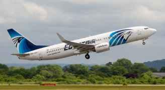 مصر للطيران تعلق رحلاتها مؤقتاً الى بغداد