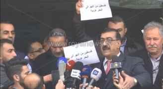 """الصحفيون ينفذون وقفة احتجاجية في عمان تنديدا بـ"""" صفقة القرن """" - فيديو"""