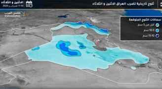 ثلوج تاريخية مُنتظرة الليلة في بغداد و عموم العراق