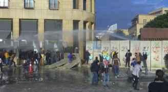 مظاهرات وسط بيروت واشتباكات بين المحتجين والقوى الأمنية اللبنانية.. فيديو