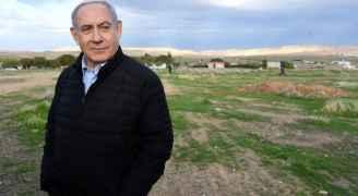 نتنياهو  يتحدى الفلسطينيين والعرب ويغرس شجرة في غور الأردن