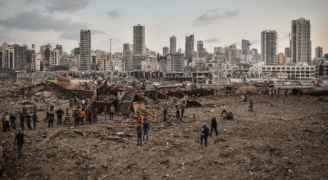 7 مفقودين و177 مبنى مهدد بالانهيار في انفجار بيروت