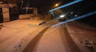 """رؤيا تنشر آخر تحديثات المنخفض القطبي وتساقط الثلوج في الأردن """"فيديو"""""""