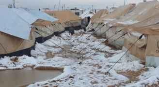 """مفوضية """"شؤون اللاجئين"""": لا حوادث في مخيمي الزعتري والأزرق خلال المنخفض القطبي.. فيديو"""