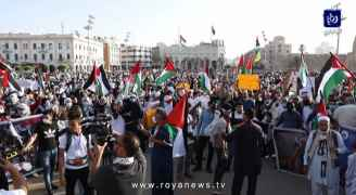 الآلاف يتظاهرون في العاصمة الليبية دعماً للفلسطينيين - فيديو