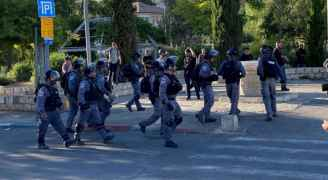 الاحتلال الإسرائيلي يقمع وقفة ضد الإغلاق في حي الشيخ جراح بالقدس