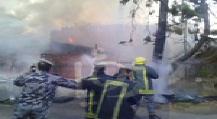 حريق في منزل قرب دوار الداخلية - صور