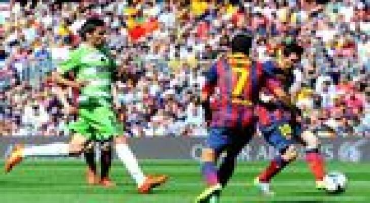 خيتافي يقضي على آمال برشلونة في الاحتفاظ باللقب