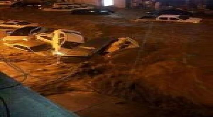 مكة المكرمة تغرق في أمطار غزيرة..صور