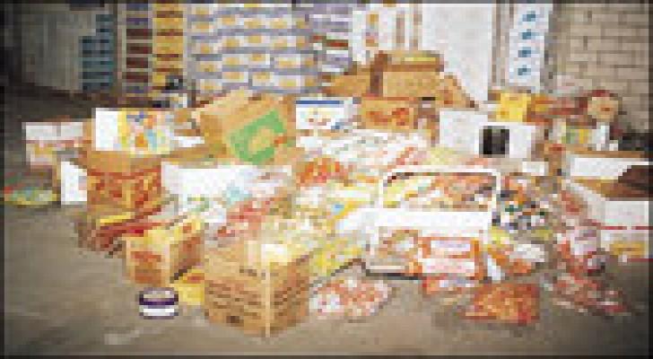 اتلاف 880 كغم من المواد الغذائية في البلقاء