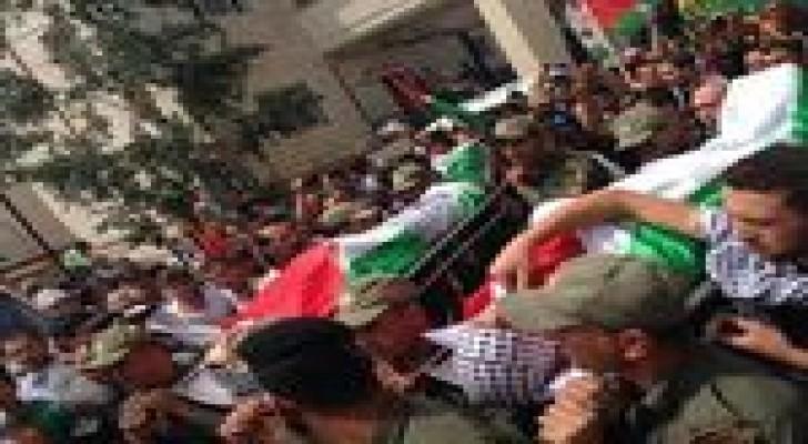 اصابة شاب فلسطيني في مواجهات عقب تشييع شهيدين في رام الله