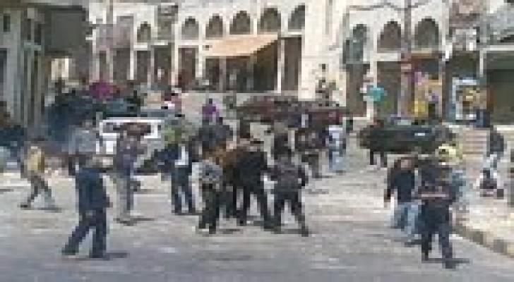 مخيم البقعة : إصابة 5 رجال أمن بفض مشاجرة