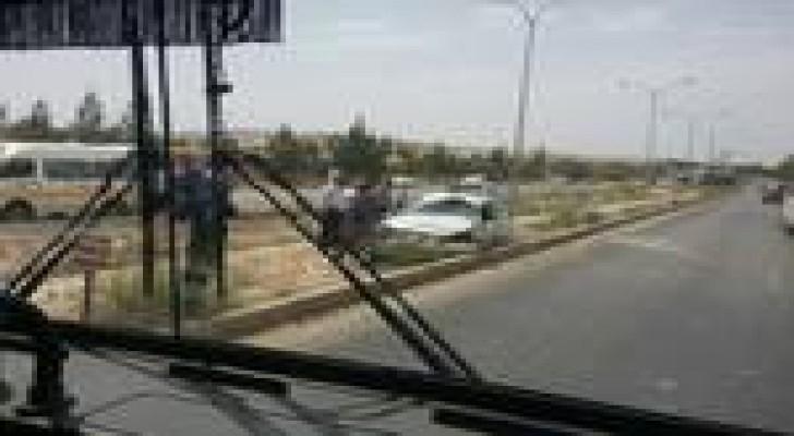 3 اصابات بحادث تدهور على طريق عمان - اربد