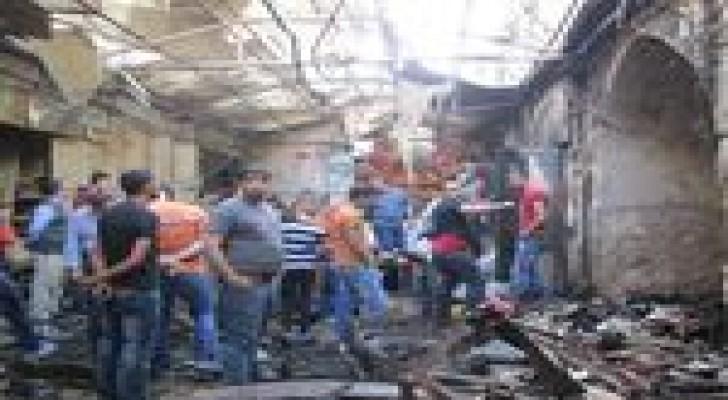 إصابة فلسطيني إثر إنفجار وسط مدينة نابلس  ..صور