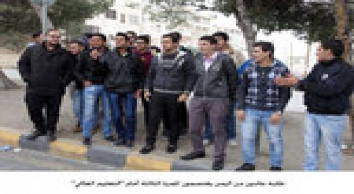 """طلبة عائدون من اليمن يعتصمون للمرة الثالثة أمام """"التعليم العالي"""""""