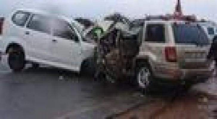 (3) إصابات اثر حادث تصادم في محافظة البلقاء