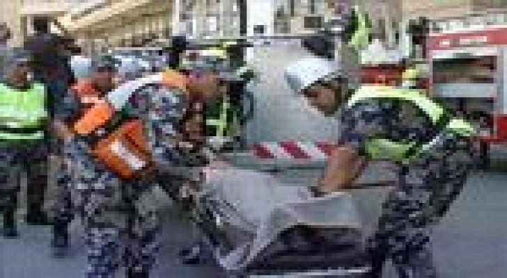إصابة (4) أشخاص اثر حادث تصادم في محافظة الكرك