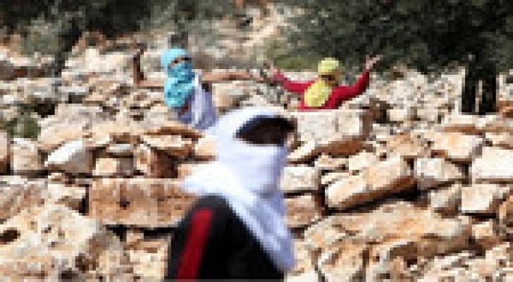 مواجهات مع الاحتلال الاسرائيلي قرب رام الله