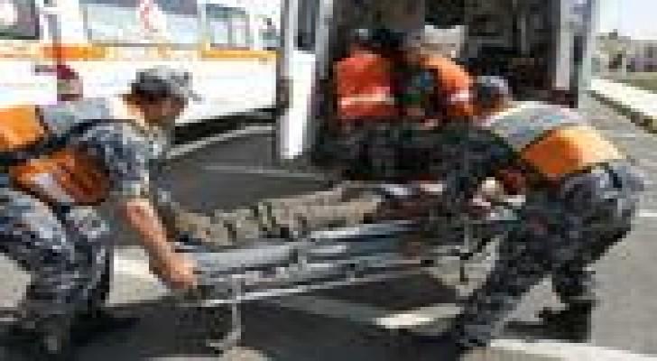 إصابة شخصين اثر حادث تدهور في محافظة اربد
