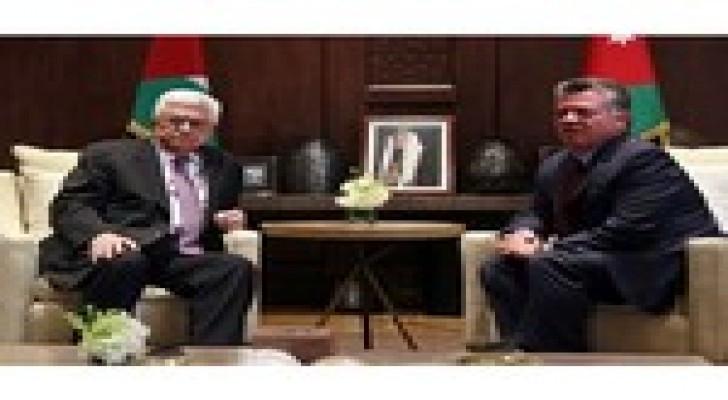الملك يلتقي عباس في قصر الحسينية