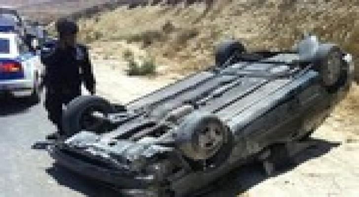 وفاة وإصابة اثر حادث تدهور  في محافظة معان