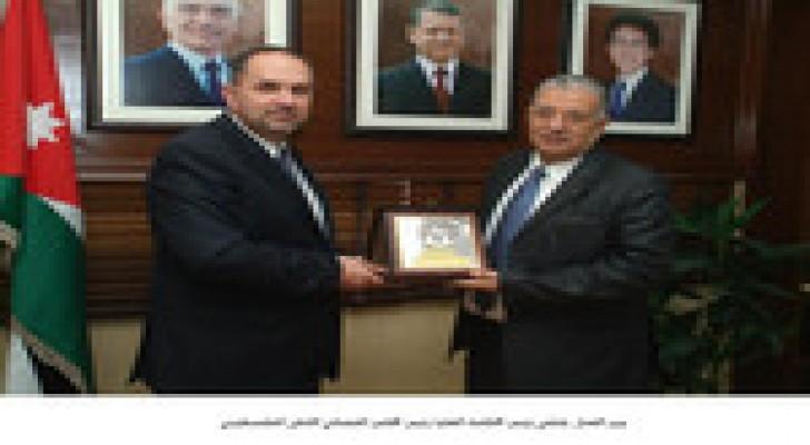 وزير العدل يلتقي رئيس المحكمة العليا رئيس المجلس القضائي الاعلى الفلسطيني