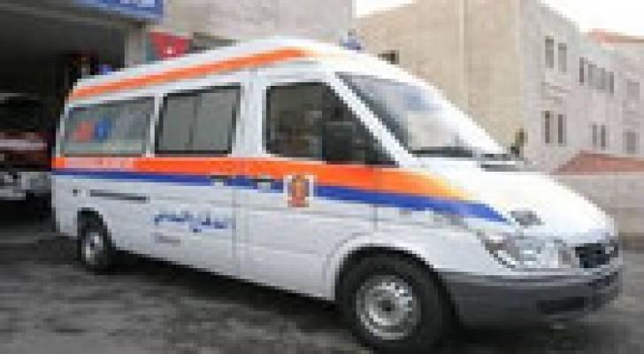 (4) إصابات اثر حادث تصادم في محافظة الطفيلة